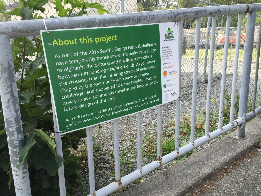 sign describing project